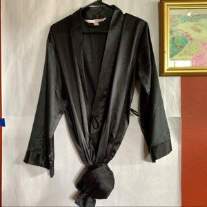 Victoria's Secret Black Maxi Robe XS/S